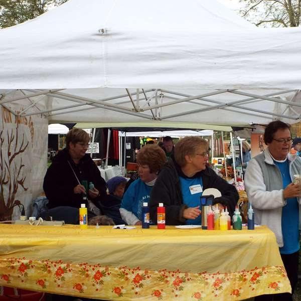 A table at the harvest festival