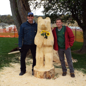 Chainsaw sculpture at the harvest festival