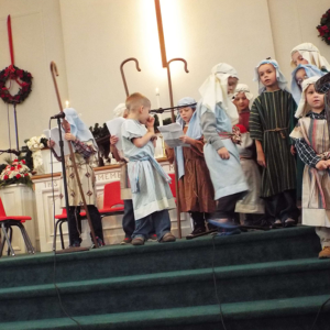 Youth doing a christmas pageant