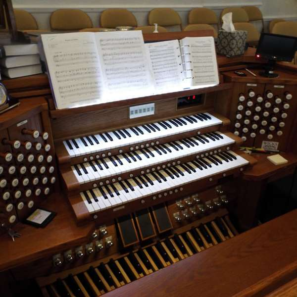 A large multi keyboard organ