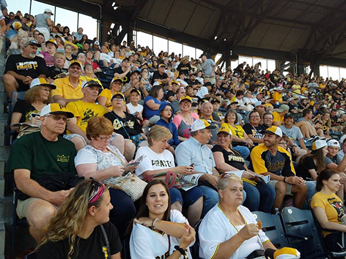 Church members enjoying the ball game at PNC park