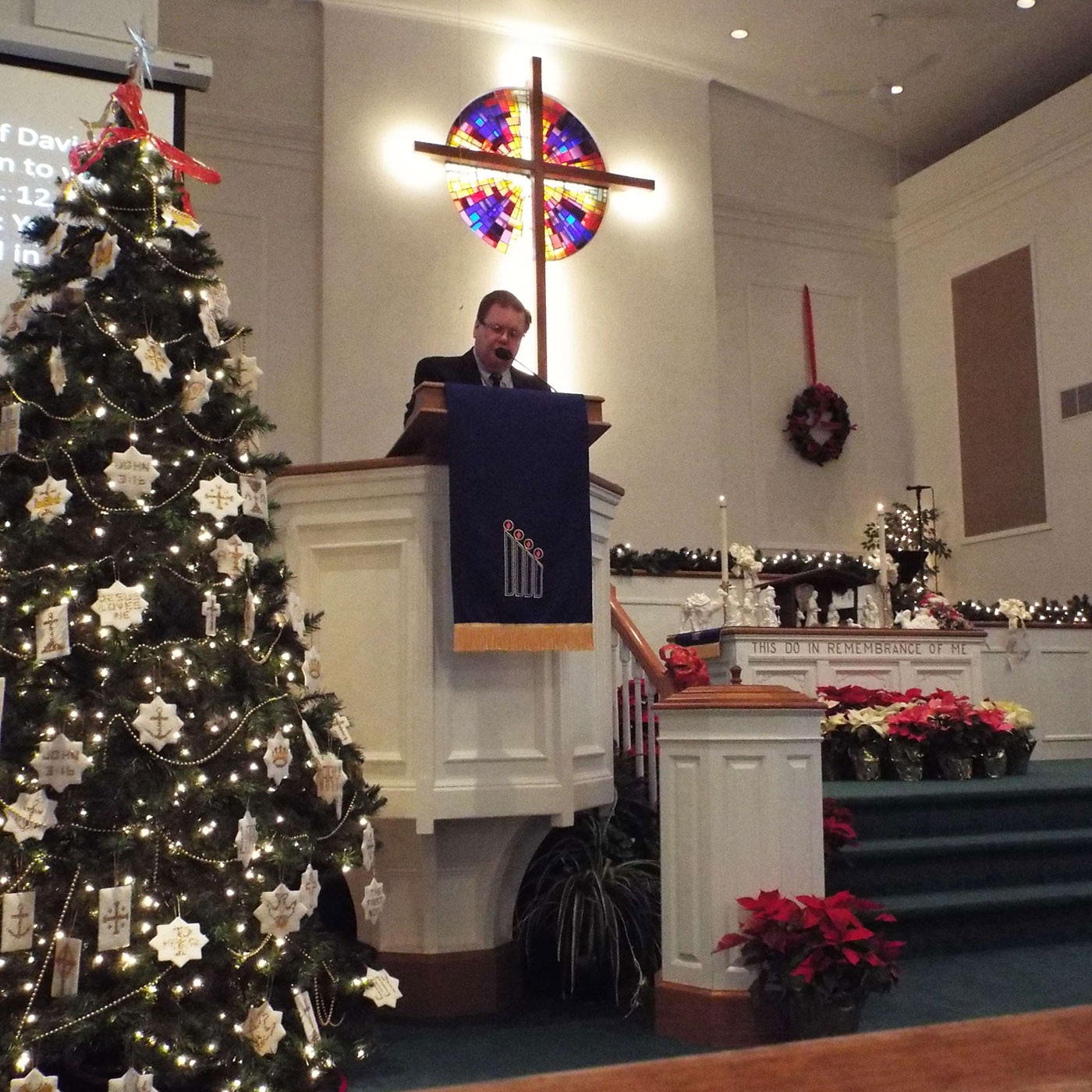 Pastor Lance at the pulpit
